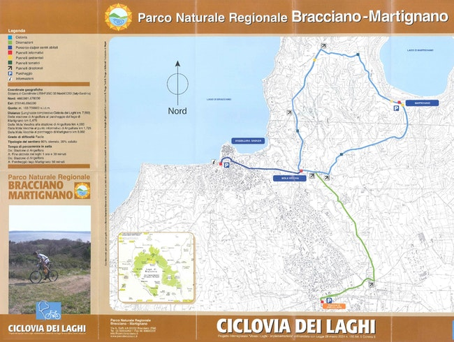 Cycling in the natural park of the Bracciano and Martignano lakes