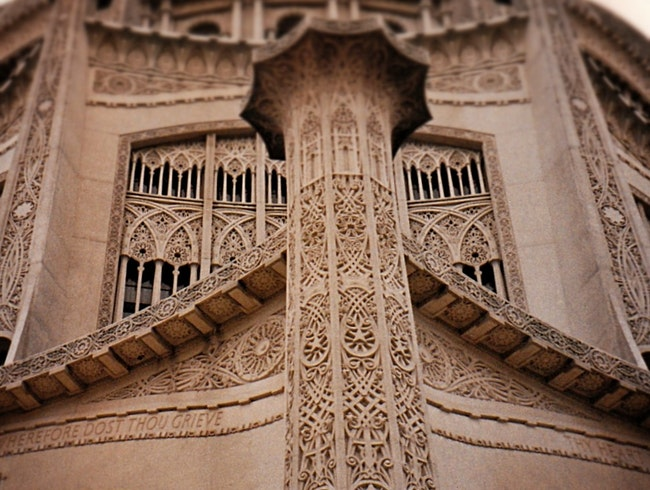 multi-faith lacework in stone