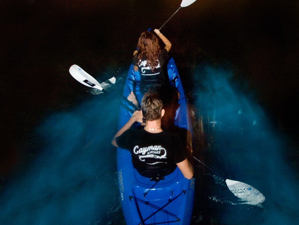 Be Adventurous at Night in a Kayak Rum Point  Cayman Islands