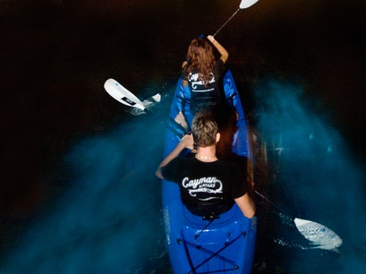 Night Kayaking in the Cayman Islands Rum Point  Cayman Islands