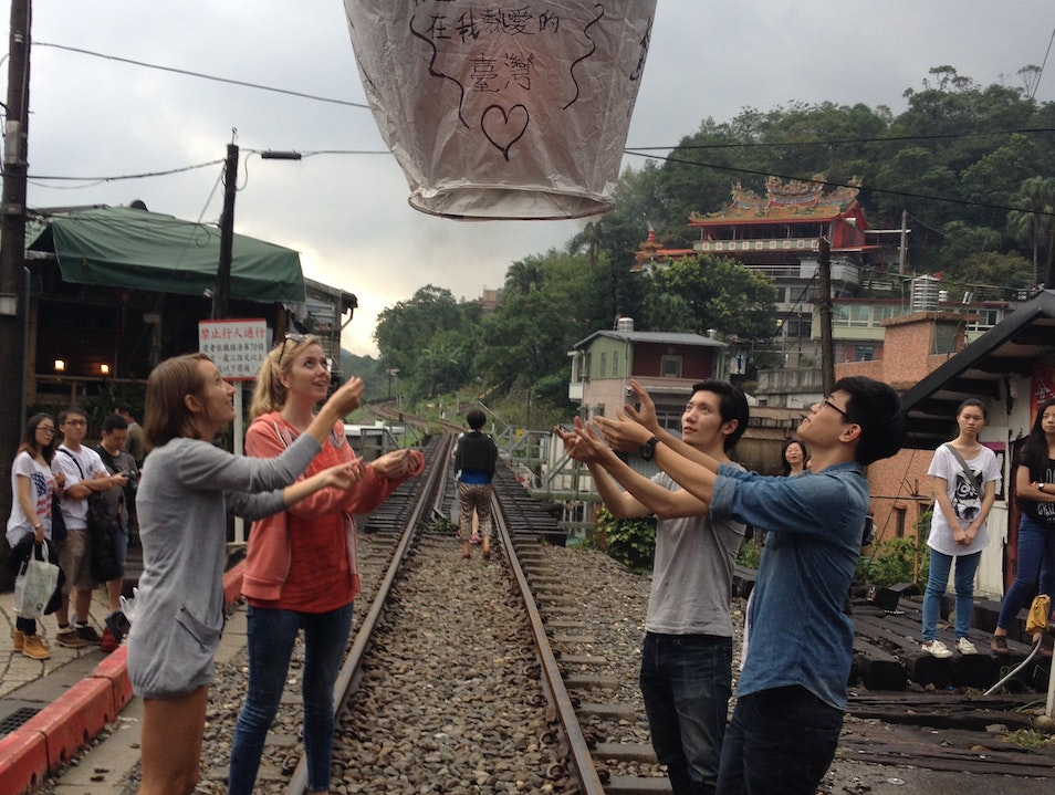 Setting Off Lanterns in Pinglin  Pinglin Station  Taiwan