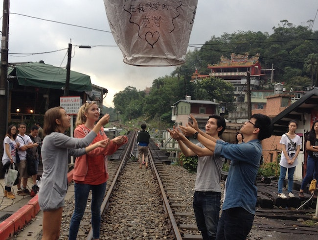 Setting Off Lanterns in Pinglin
