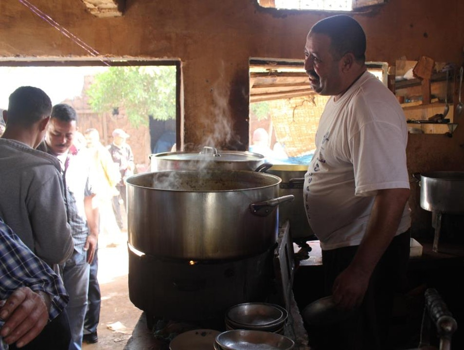 Eating Cow Foot Stew in Tnine Market, Ourika Valley, Morocco Ourika  Morocco
