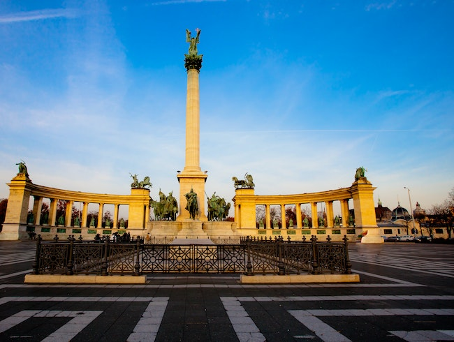 Museums, Parks, and Concerts in Heroes' Square, Budapest