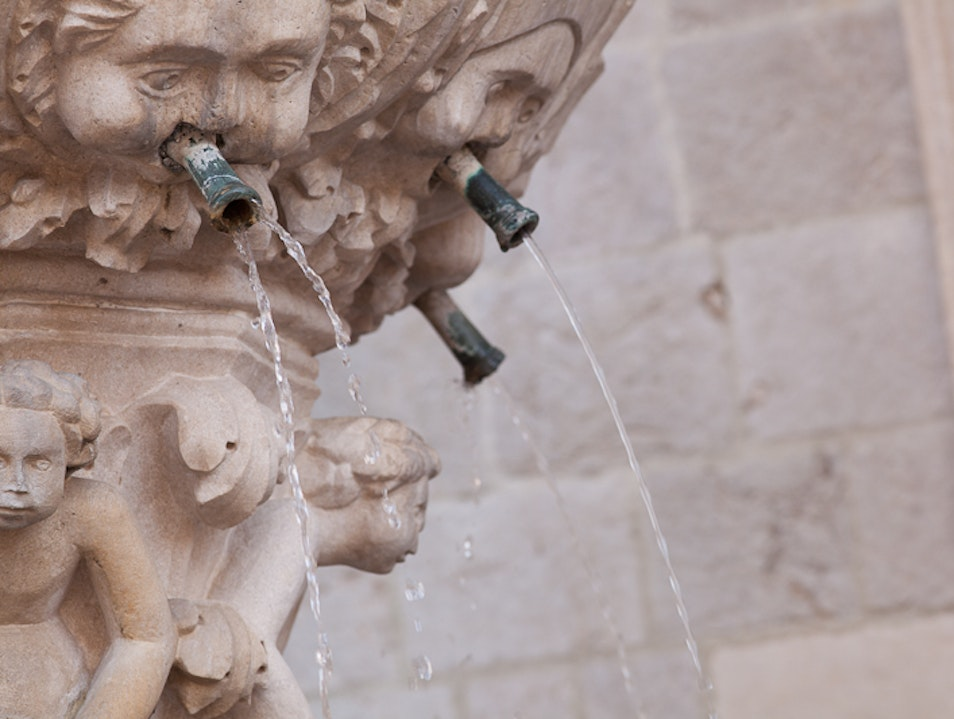 Quench your thirst at a spring fed fountain Dubrovnik  Croatia