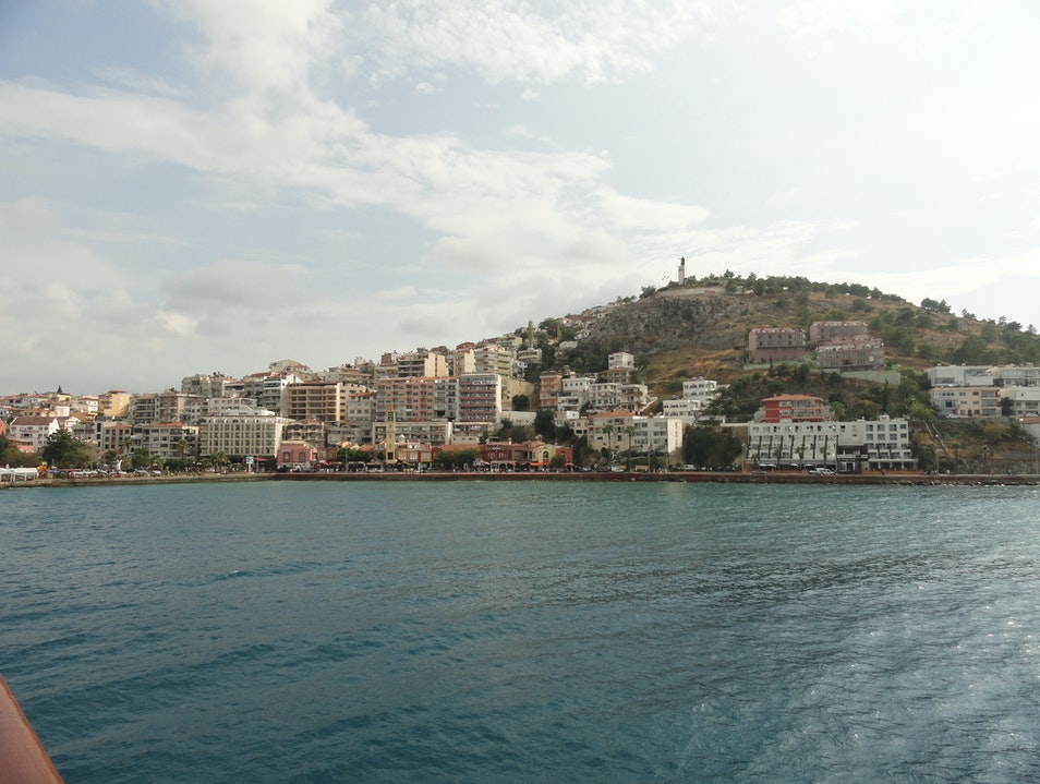 The beautiful Turkish shoreline Kusadasi  Turkey
