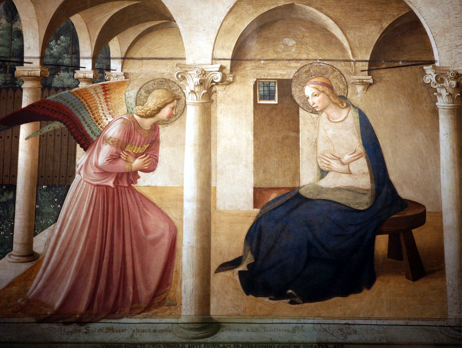 Fra Angelico in the Museo di San Marco Florence  Italy