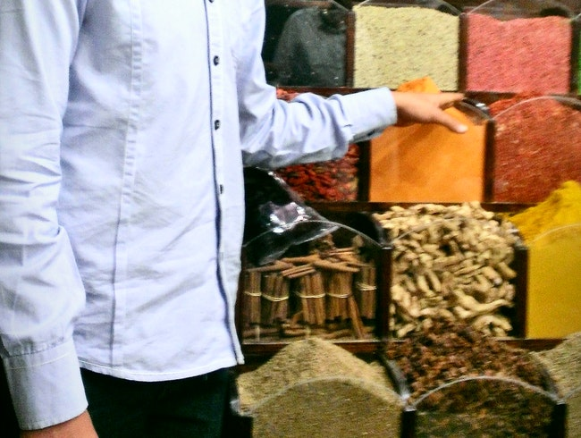Aswan Night Market: Spice Stall