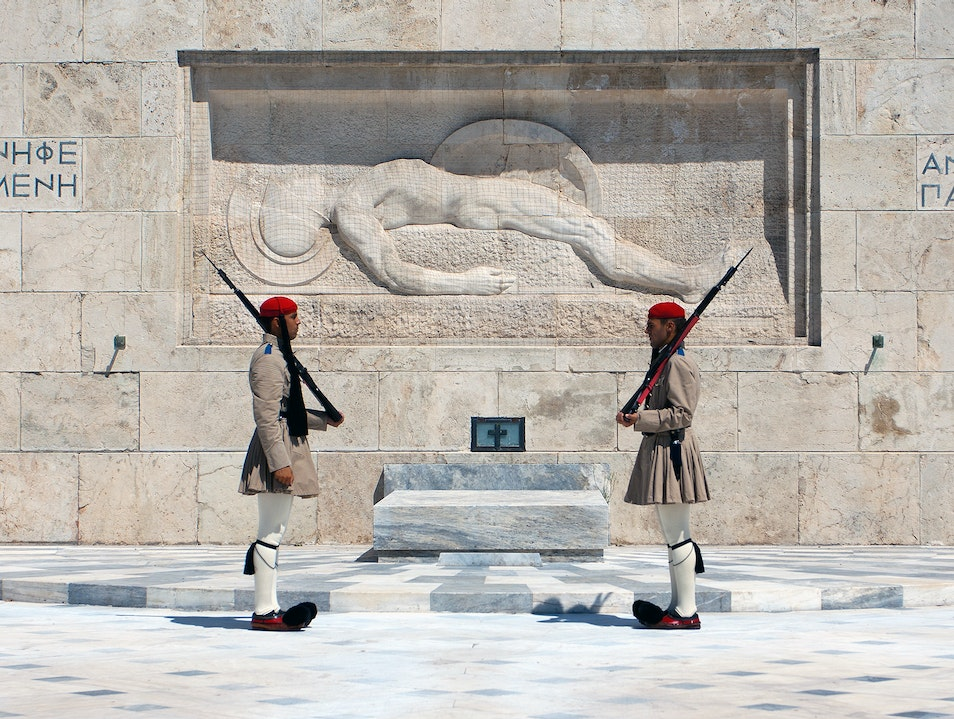 The Guards at the Tomb of the Unknown Soldier