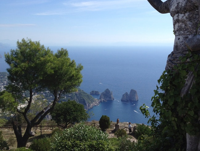 View of Capri from Mount Solaro