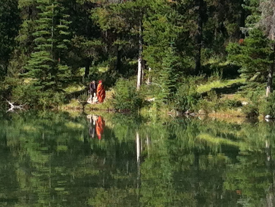 Reflected Wisdom at Two Jack Banff National Park  Canada