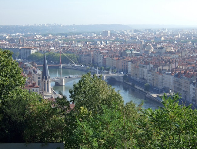 View of the Saône from Christian Tetedoie, Lyon, France