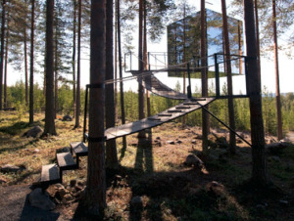 Stay in a Treehouse Under the Northern Lights Harads  Sweden