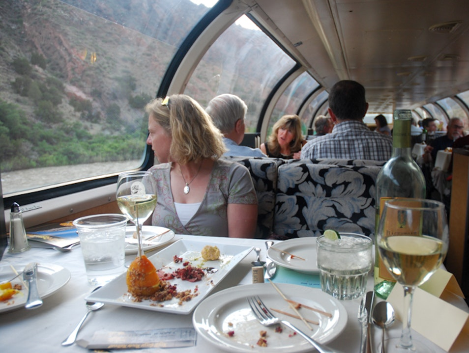 Royal Gorge Route Railroad: Wining and Dining aboard Scenic Train Cañon City Colorado United States