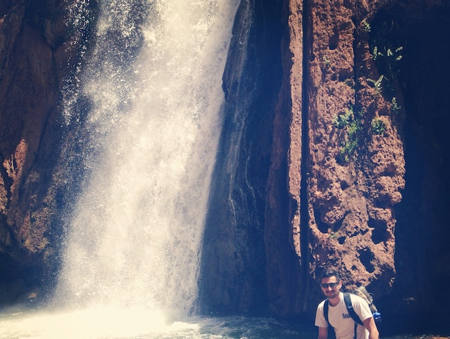 Waterfall In Berber Mountain Village