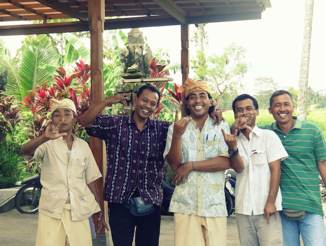 The people who run the Agung Khalia villa