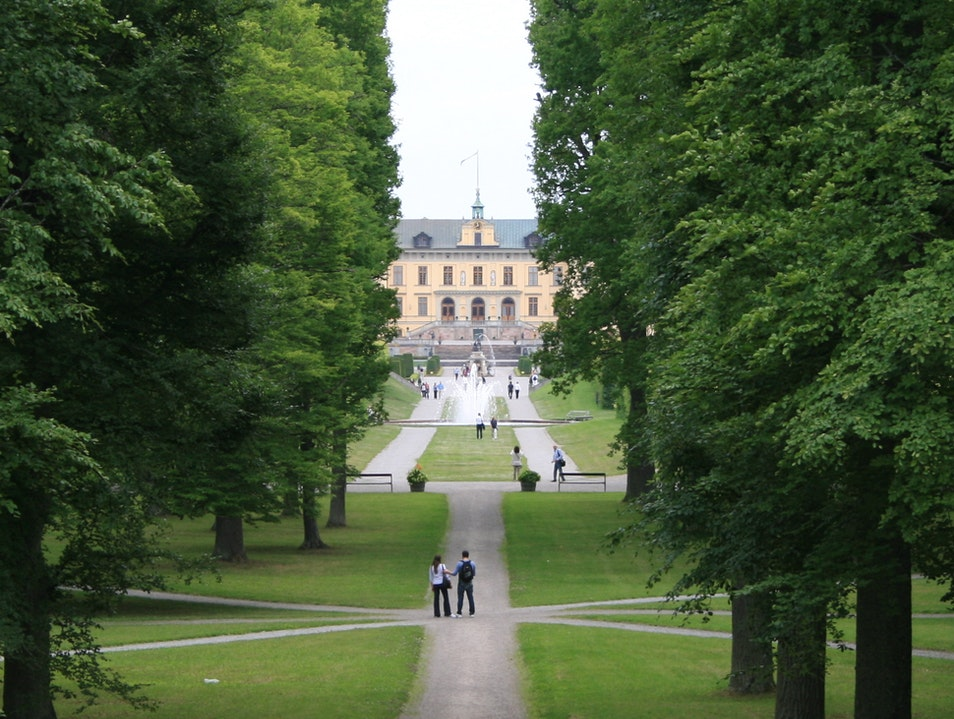 In the Royal Domain  Drottningholm  Sweden
