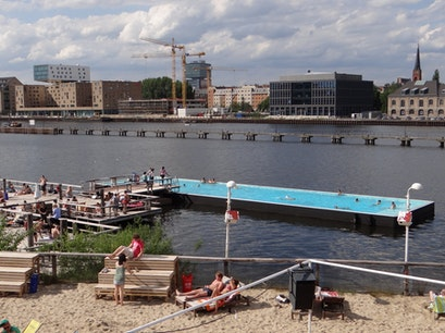 Badeschiff an der Arena Berlin  Germany
