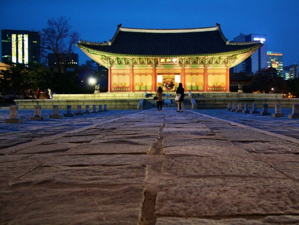Palace at Night Seoul  South Korea
