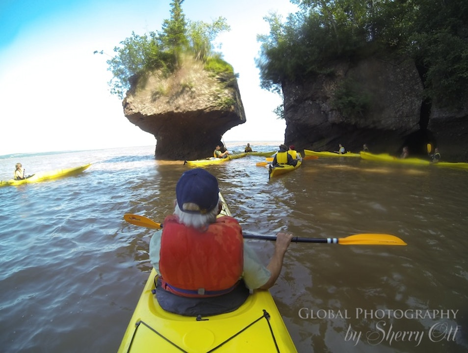 Kayak in the Bay of Fundy at High Tide