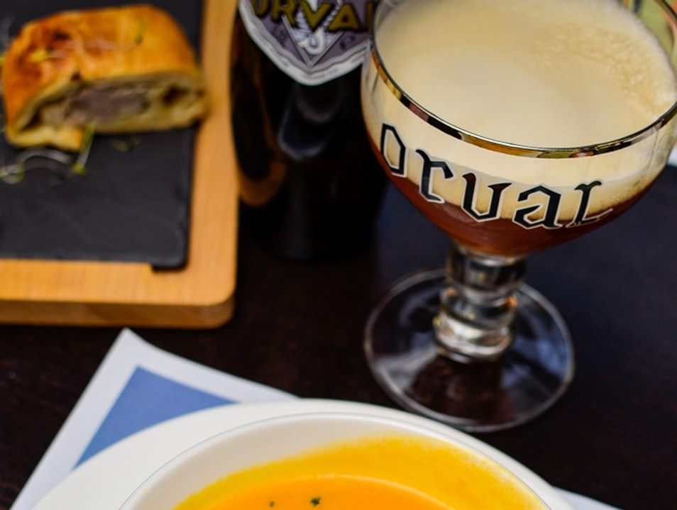 Carrots soup at Orval Abbey Florenville  Belgium