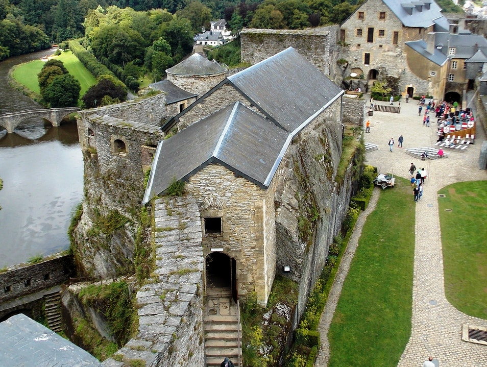 Atop the town of Bouillon...