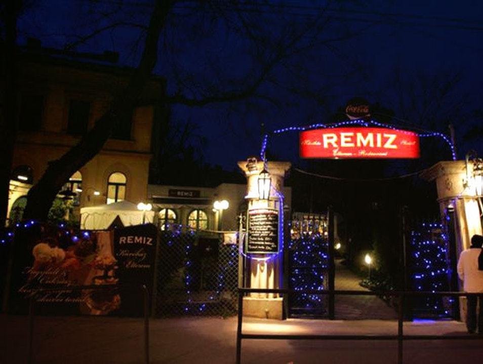 Remiz for grilling over hot lava Budapest  Hungary