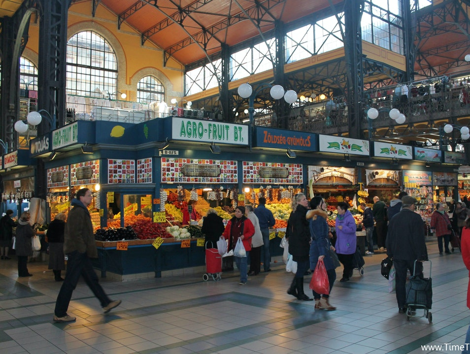 Shopping Hungarian Style at Central Market Hall Budapest  Hungary