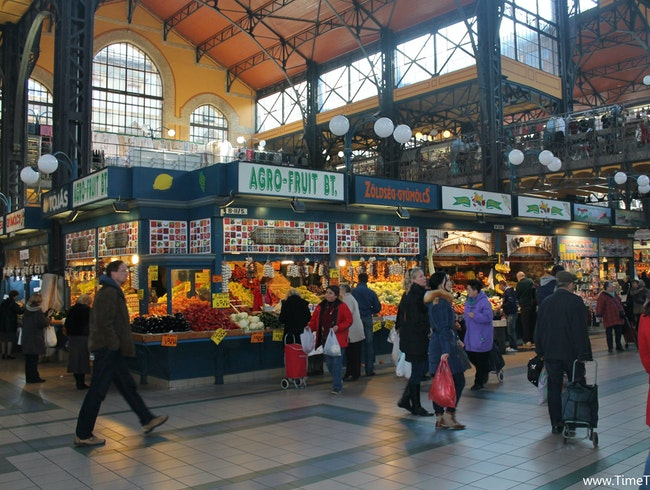 Shopping Hungarian Style at Central Market Hall