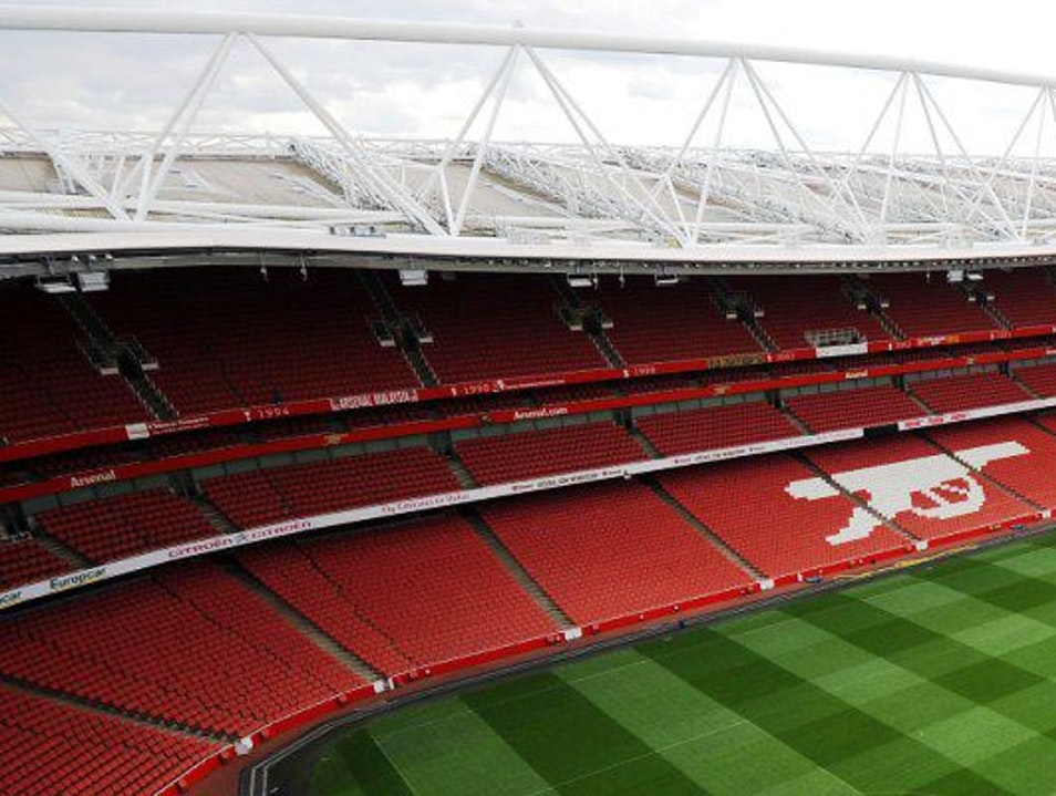 A Football Match at the Emirates Stadium London  United Kingdom