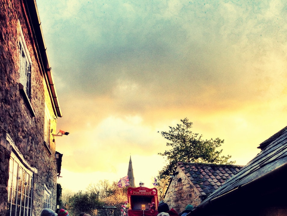 Punch and Judy Sunset in Olney Olney  United Kingdom
