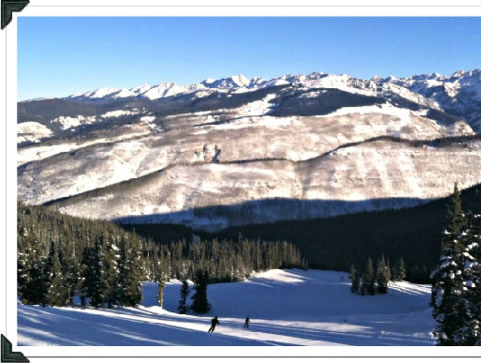 Perfect Ski Day Vail Colorado United States