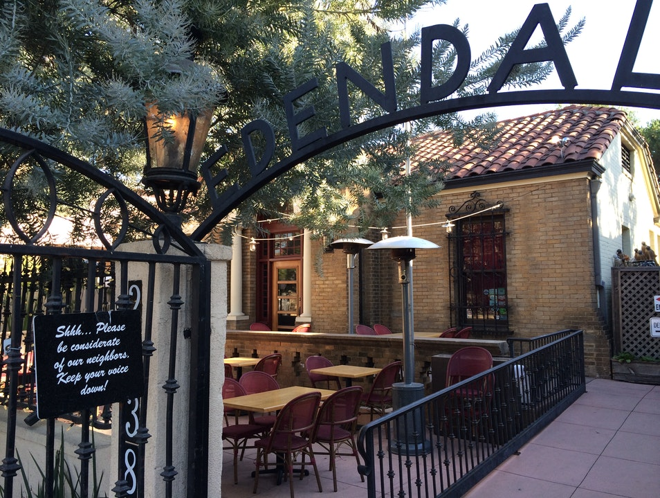 A Patio for Friends at Edendale Los Angeles California United States