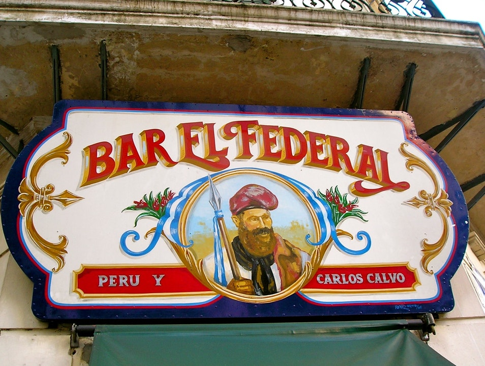 Belly Up to the Bar in an Old Brothel Buenos Aires  Argentina