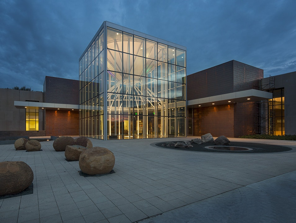 Northern Lights Atrium and Cannonballs at ND Heritage Center