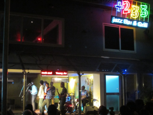 Jazz night out in Accra