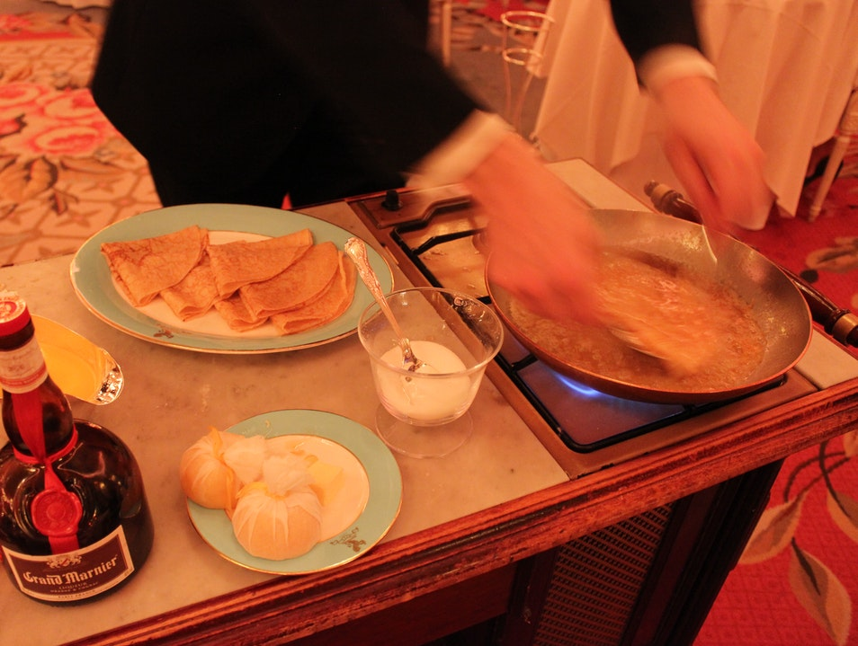 Crêpes Suzette at The Ritz Restaurant London  United Kingdom