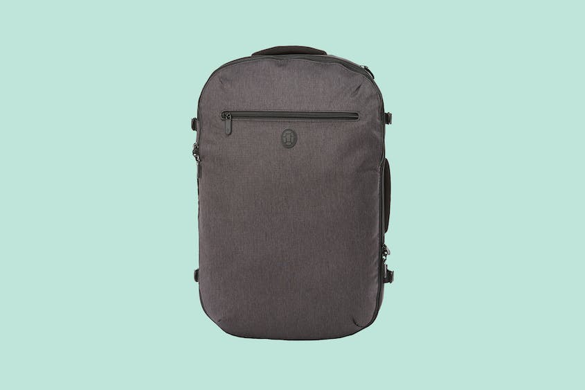 Leave straight from the office with this weekender that combines laptop and clothing storage.