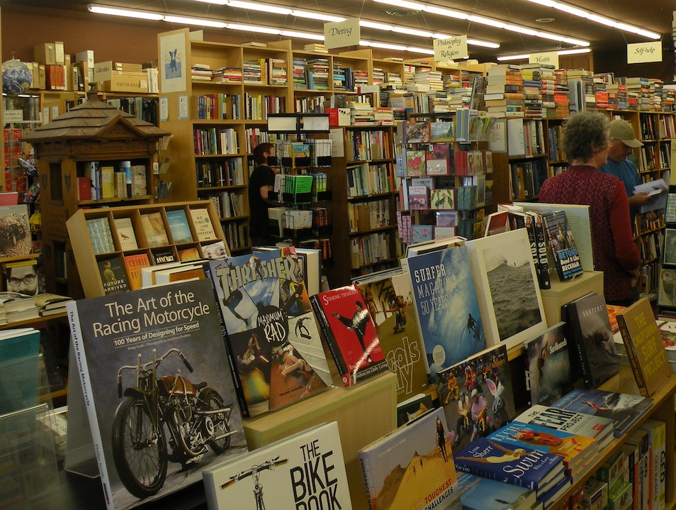 Ecclectic local bookstore in Santa Barbara, California
