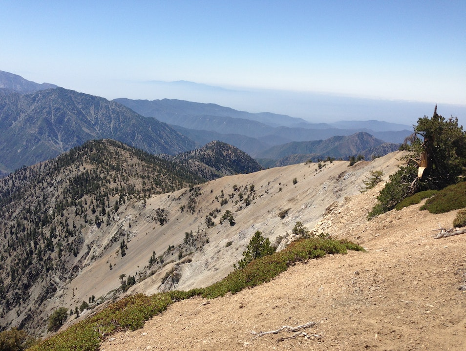 View looking south to Mt. Baldy and beyond