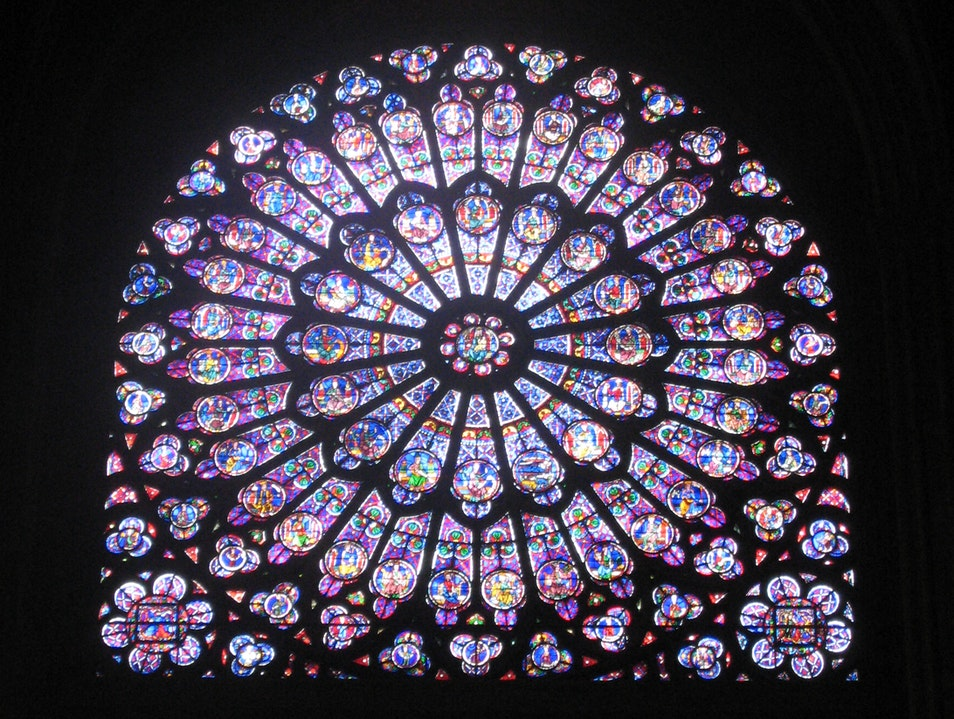 The South Rose Window of Notre Dame Cathedral   France