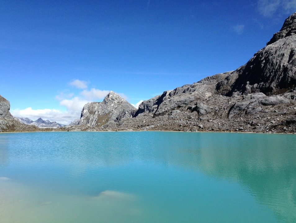 Alpine lake in Papua