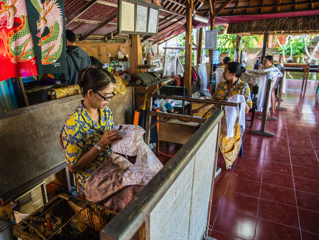 Experience the home made Batik of Ubud, Bali