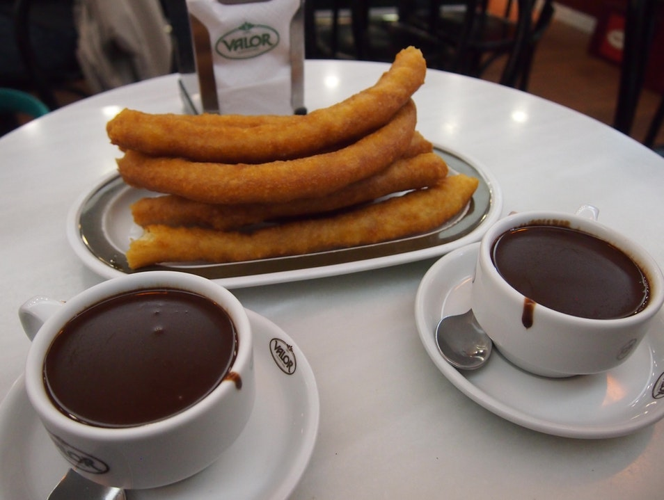 Chocolate and Churros at Valor's Barcelona  Spain