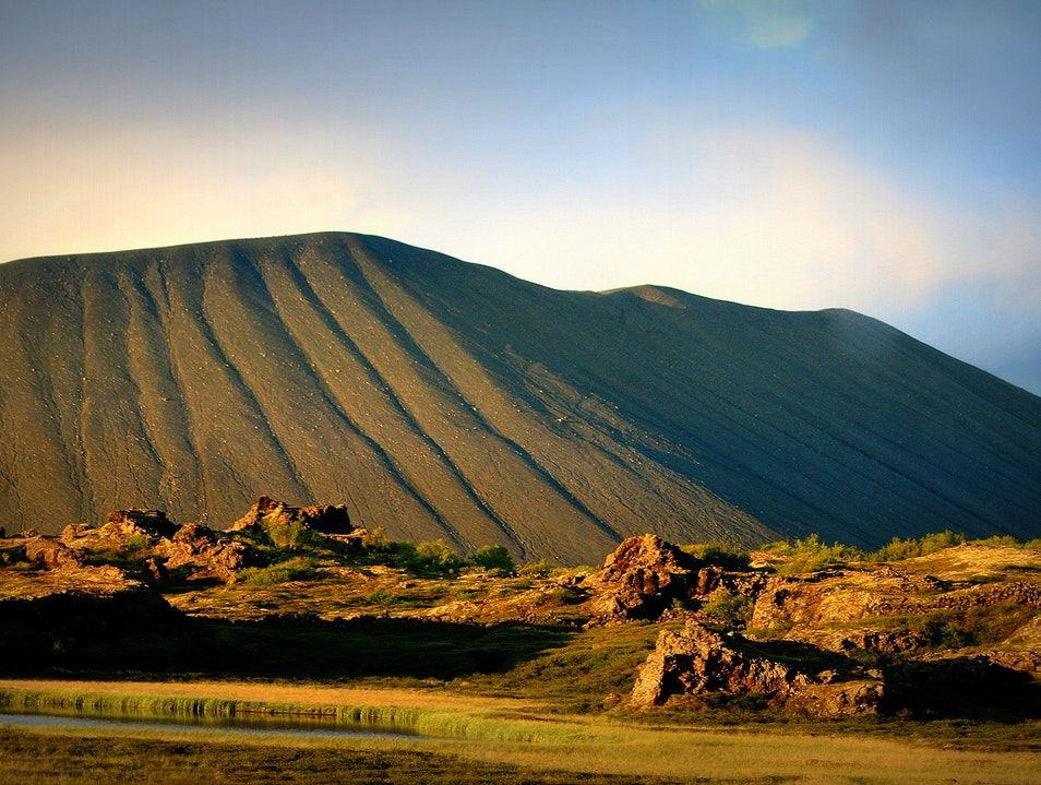 The Hverfjall crater in Northern Iceland Northeast  Iceland