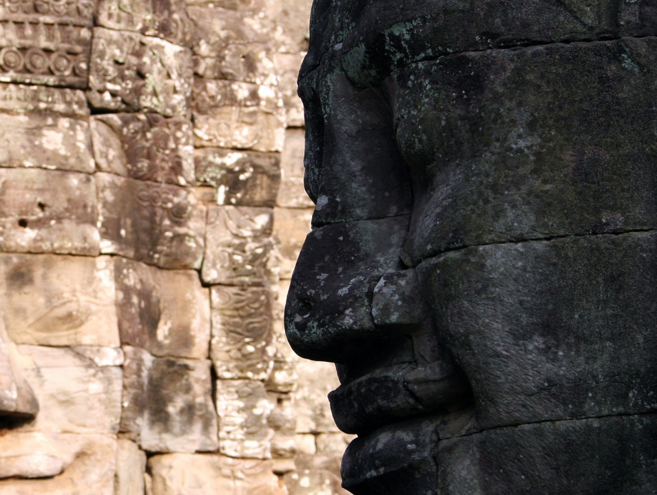 The faces of Angkor Wat Siem Reap  Cambodia