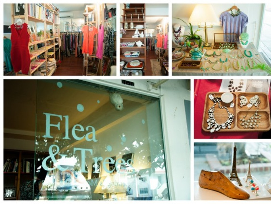 Shopping for Vintage Treasures at Flea & Trees
