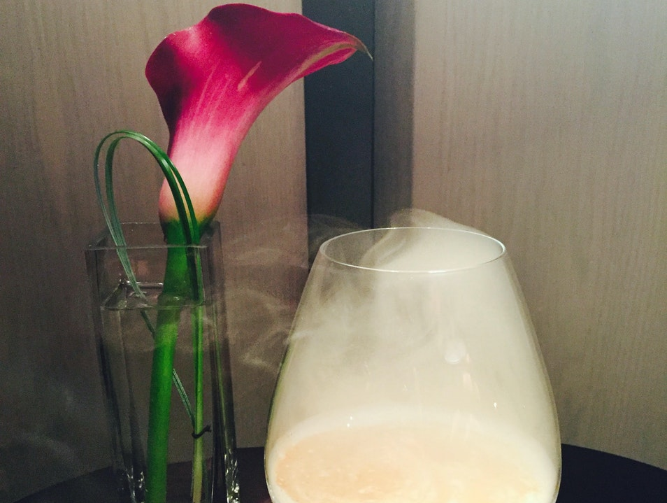 The Cure-All: Smoked Apple Sour at the Knickerbocker Hotel  New York New York United States