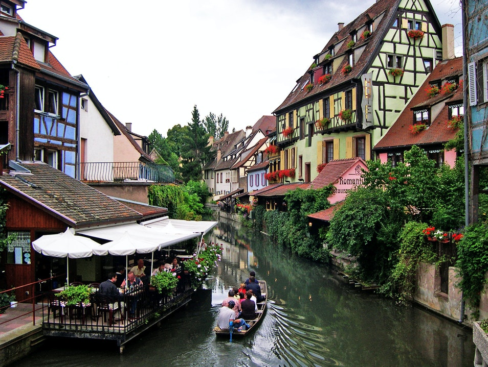 An Alsace meal in La Petite Venise Colmar  France