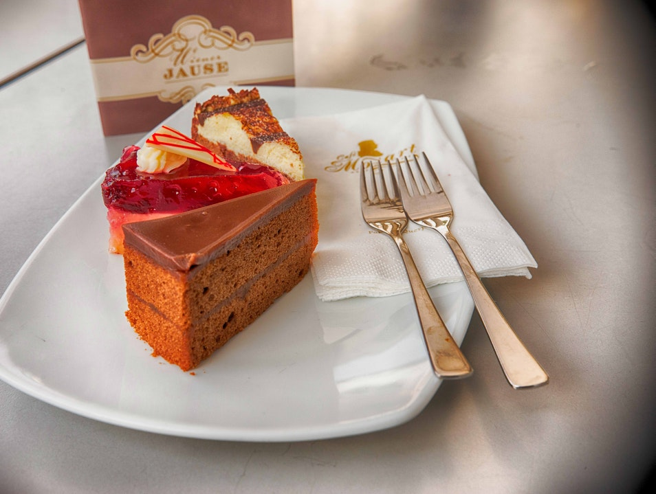 Selection of Cakes in Cafe Mozart